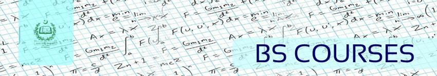 BS Courses, Department of Mathematics, QAU