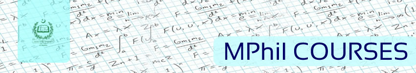 MPhil Courses, Department of Mathematics, QAU