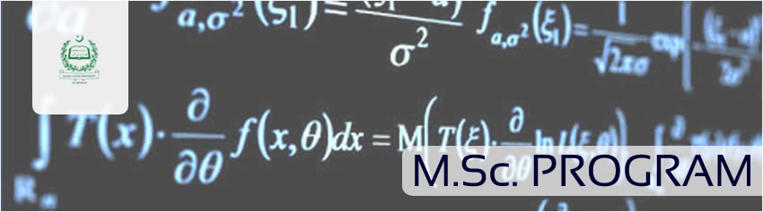 MSc. Program, Department of Mathematics, QAU